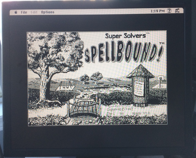 "The Learning Company's ""Spellbound!"" on the Mac."